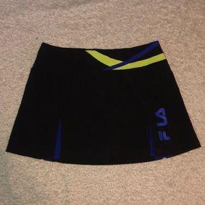 Fila Tennis Skirt Running workout Black Blue Logo